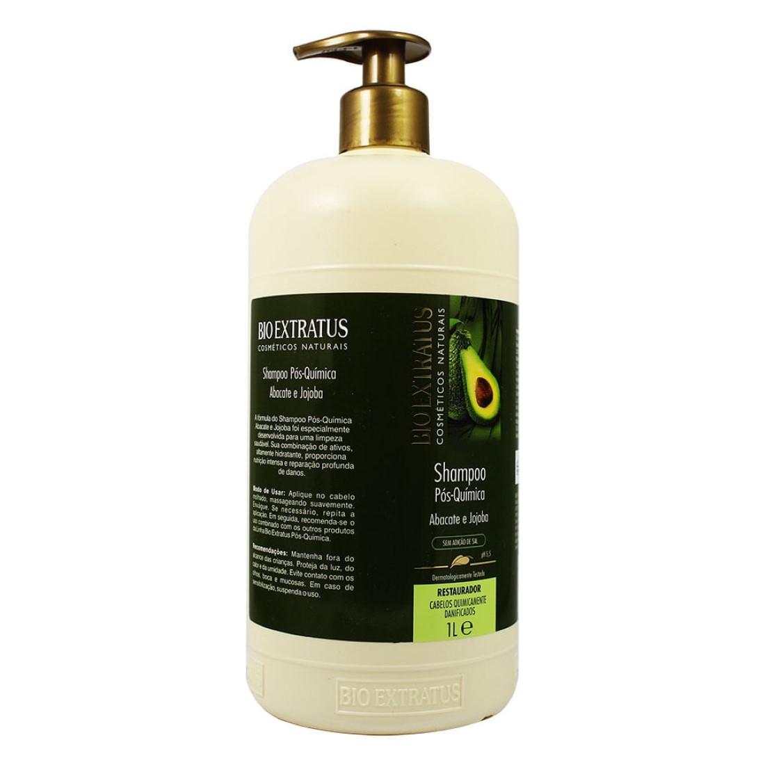 Shampoo Pós Química Abacate e  Jojoba 1L - Bio Extratus