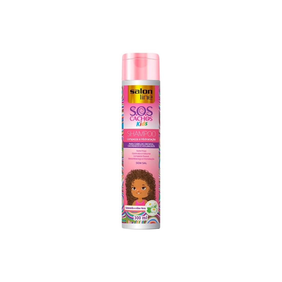Shampoo S.O.S Cachos Kids 300ml - Salon Line