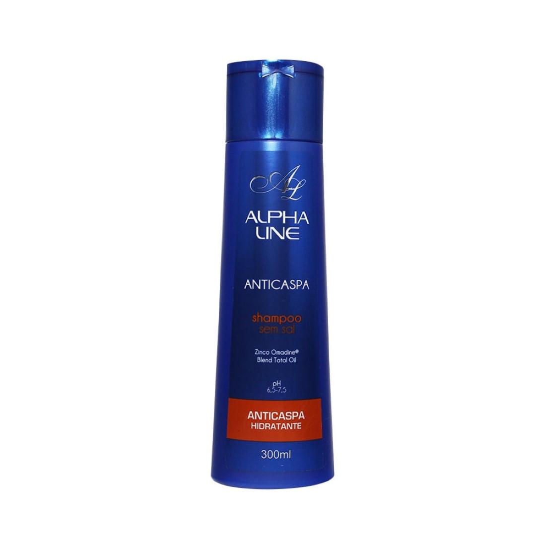 Shampoo sem Sal Anticaspa Esfoliante 300g - Alpha Line