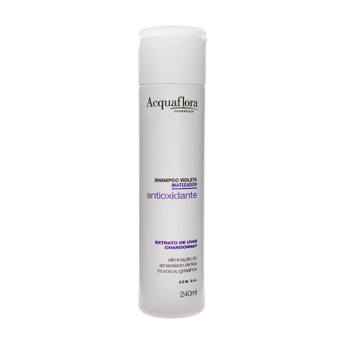 Shampoo Violeta Matizador Antioxidante Sem Sal 240ml - Acquaflora