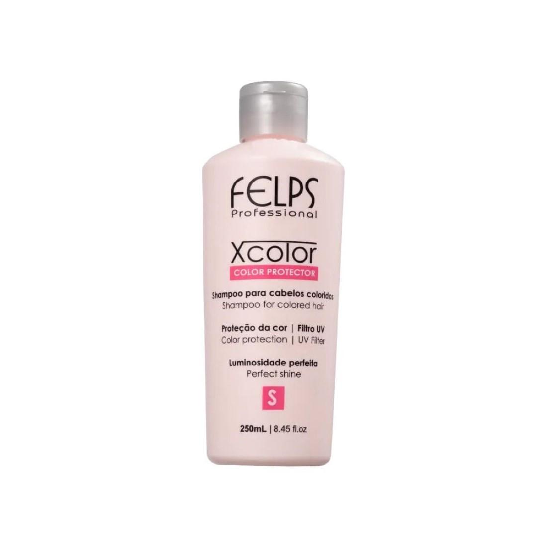 Shampoo Xcolor Protector para Cabelos Coloridos 250ml - Felps