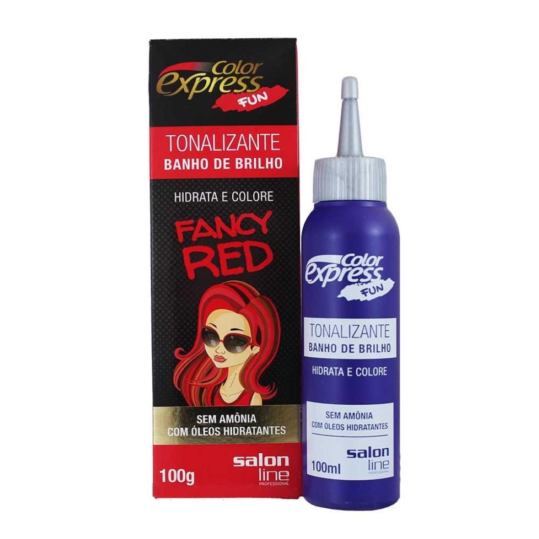 Tonalizante Color Express Fun Fancy Red 100g - Salon line