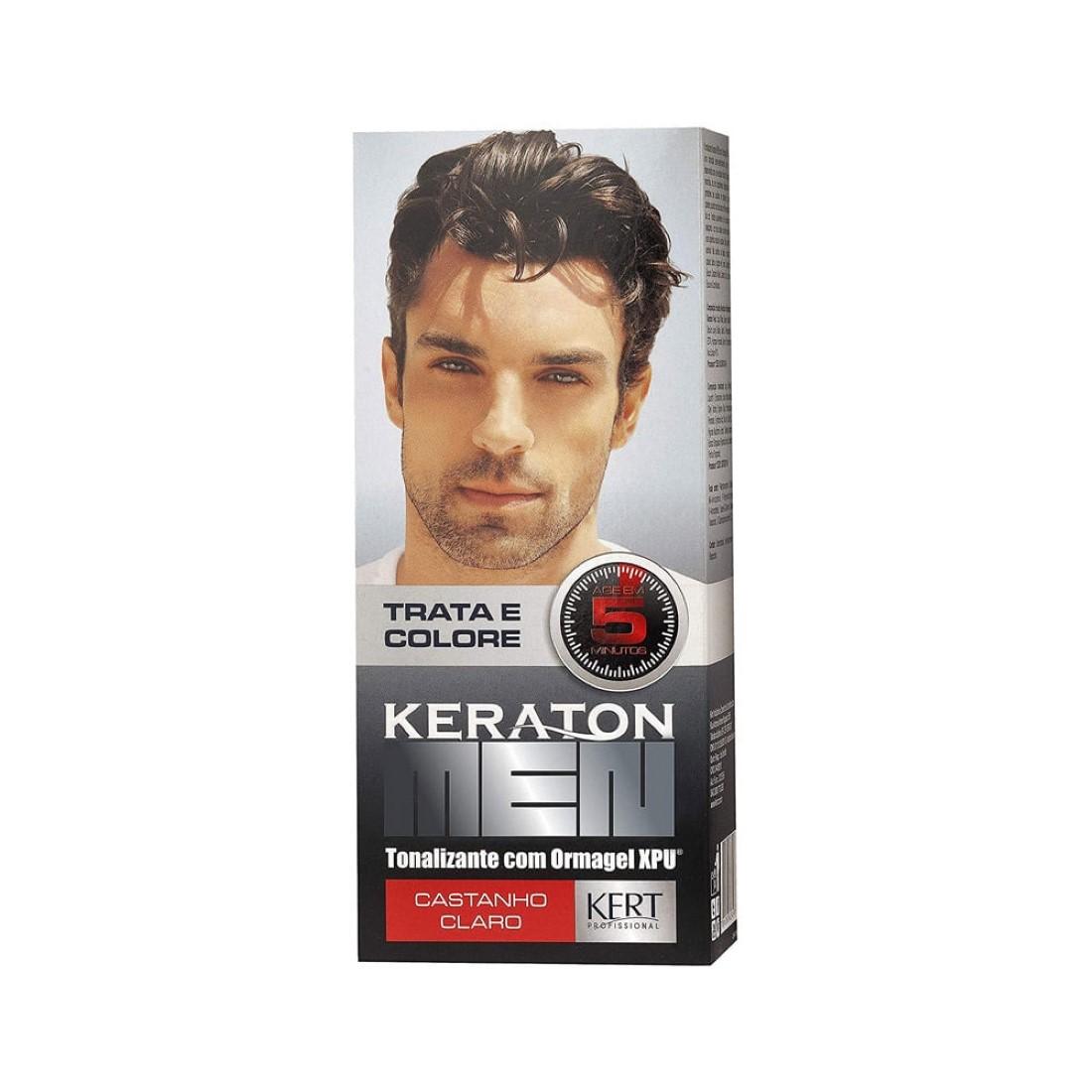 Tonalizante Keraton Men Castanho Claro - Kert