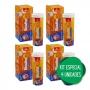 4 Biovita C Efervescente Tripla Ação C D Zinco p/ Imunidade