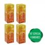 4 Vitamina C Efervescente Tripla Ação C D Zinco p/ Imunidade