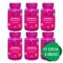 6 FOS Frutooligossacarídeo Prebiótico + Psyllium Ágar Cromo