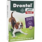 Drontal Plus Bayer para Cães até 10 Kg com 4 UN
