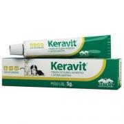 Keravit 5g - Pomada Oftálmica Antibiótica e anti-inflamatória
