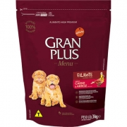 Ração Gran Plus Menu Cães Filhote Carne e Arroz 3Kg.