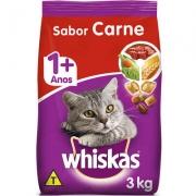 Ração Whiskas Gatos 1+ Sabor Carne - 3 Kg