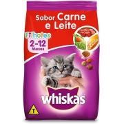 Ração Whiskas Gatos Filhotes 2-12 Meses Sabor Carne e Leite