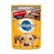 Sachê Pedigree Adulto + 7 Sabor Carne ao Molho
