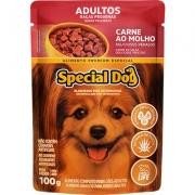 Sachê Special Dog Raças Pequenas Adulto Sabor Carne ao Molho