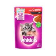 Sachê Whiskas Gatos Filhote 2-12 meses Sabor Carne Jelly
