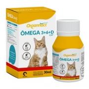 Suplemento Vitamínico para Gatos Ômega 3+6+D Cat 500mg Organnact