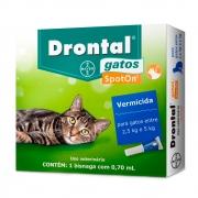 Vermicida para Gatos Drontal Spoton 2,5-5 kg