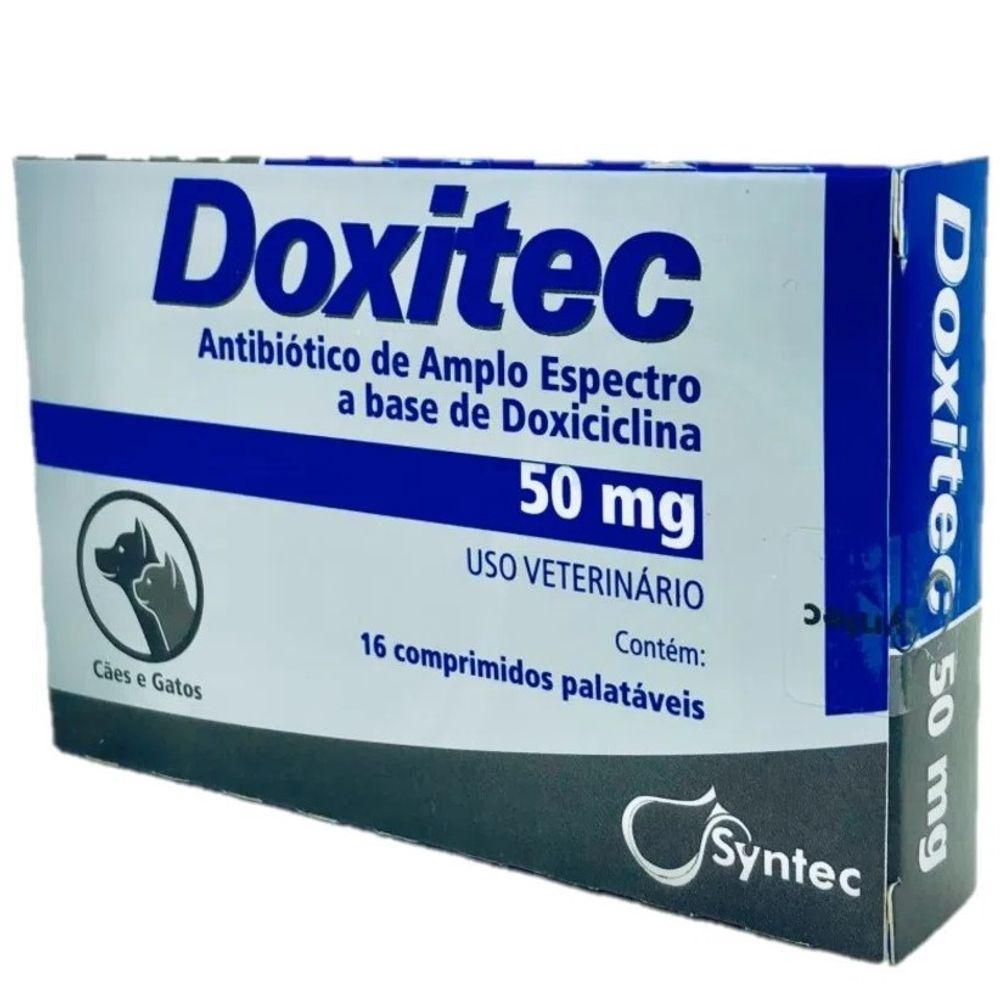 Antibiótico Doxitec Syntec 50 mg - 16 comprimidos