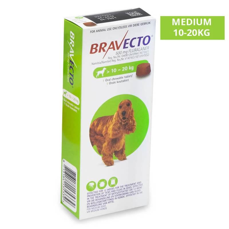 Bravecto 10- 20 kilos Para Pulga E Carrapato