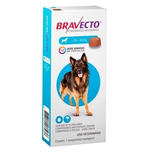 Bravecto 20- 40 kg Para Pulga E Carrapato