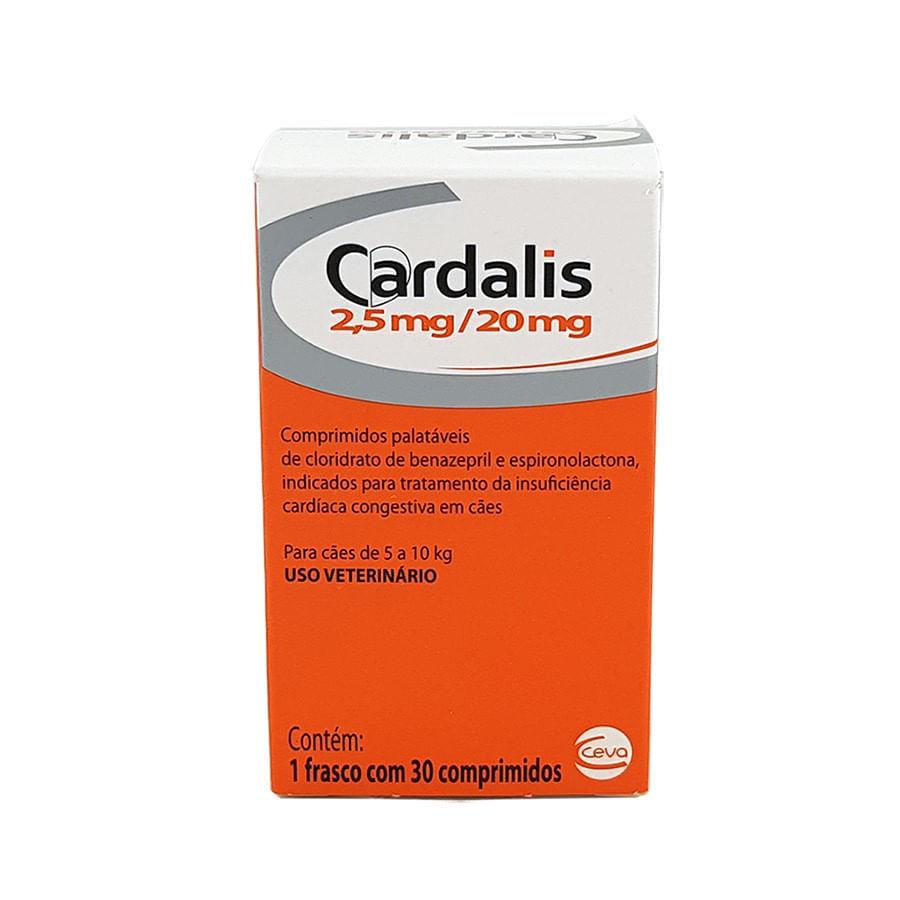 Cardalis 2,5 mg para Cães 5 a 10kg Ceva 30 Comprimidos