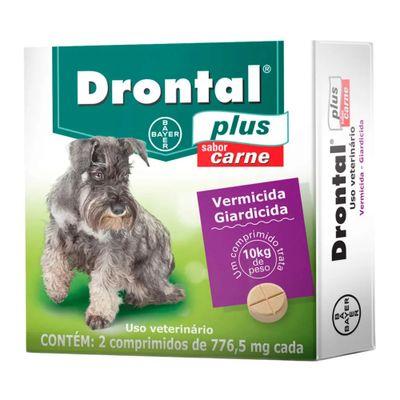 Drontal Plus Bayer para Cães até 10 Kg - 2 comprimidos