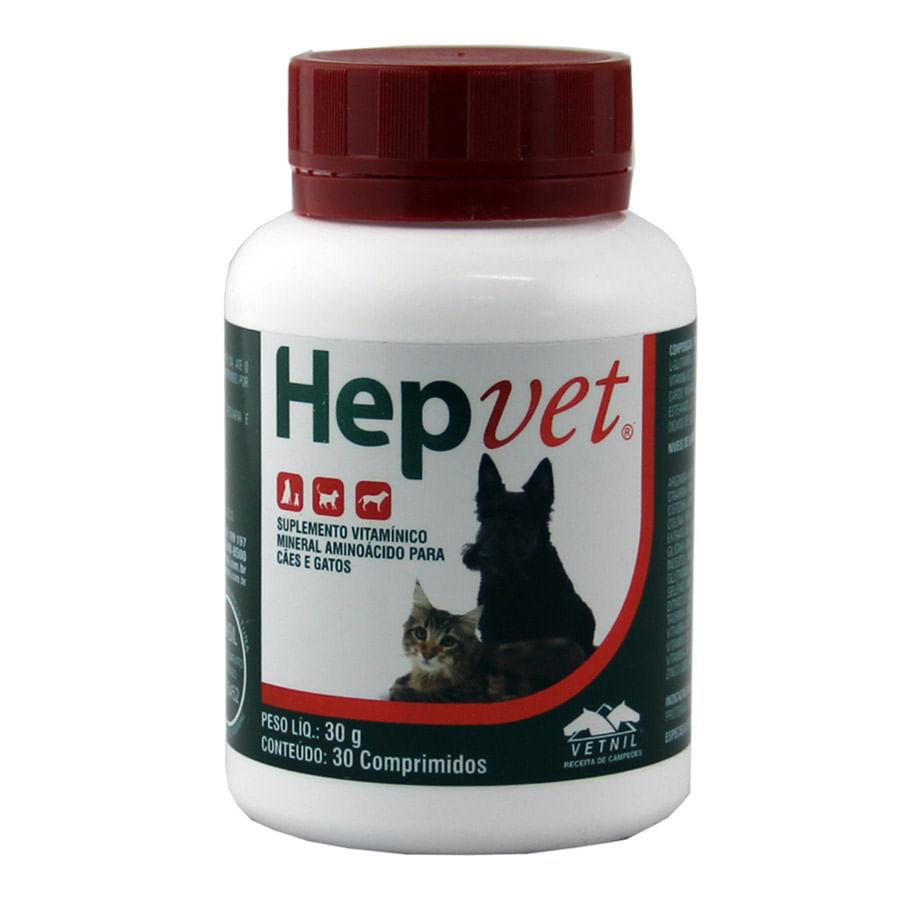 Hepvet  30 Comprimidos Vetnil
