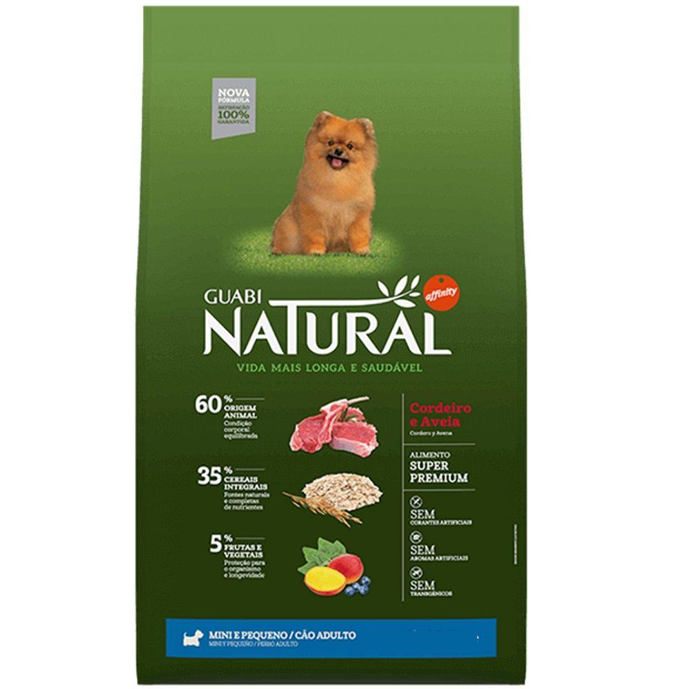 Ração Guabi Natural Cordeiro e Aveia para Cães Adultos Raças Mini e Pequena 1Kg