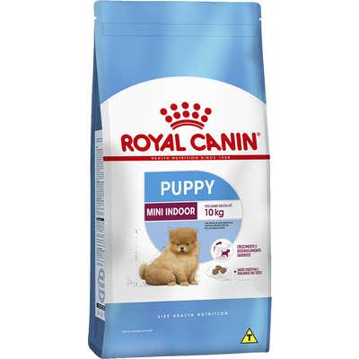 Ração Royal Canin Mini Indoor Junior para Cães Filhotes 1 Kg