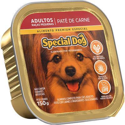 Ração Úmida Special Dog Patê Carne para Cães Adultos Raças Pequenas