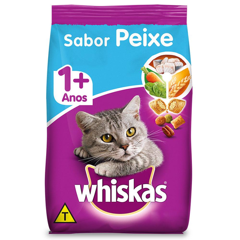 Ração Whiskas 1+ Sabor Peixe