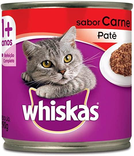 Ração Whiskas Carne Patê Lata 290 Gr