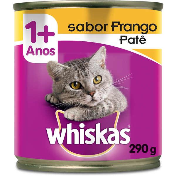 Ração Whiskas Frango Patê Lata 290 Gr