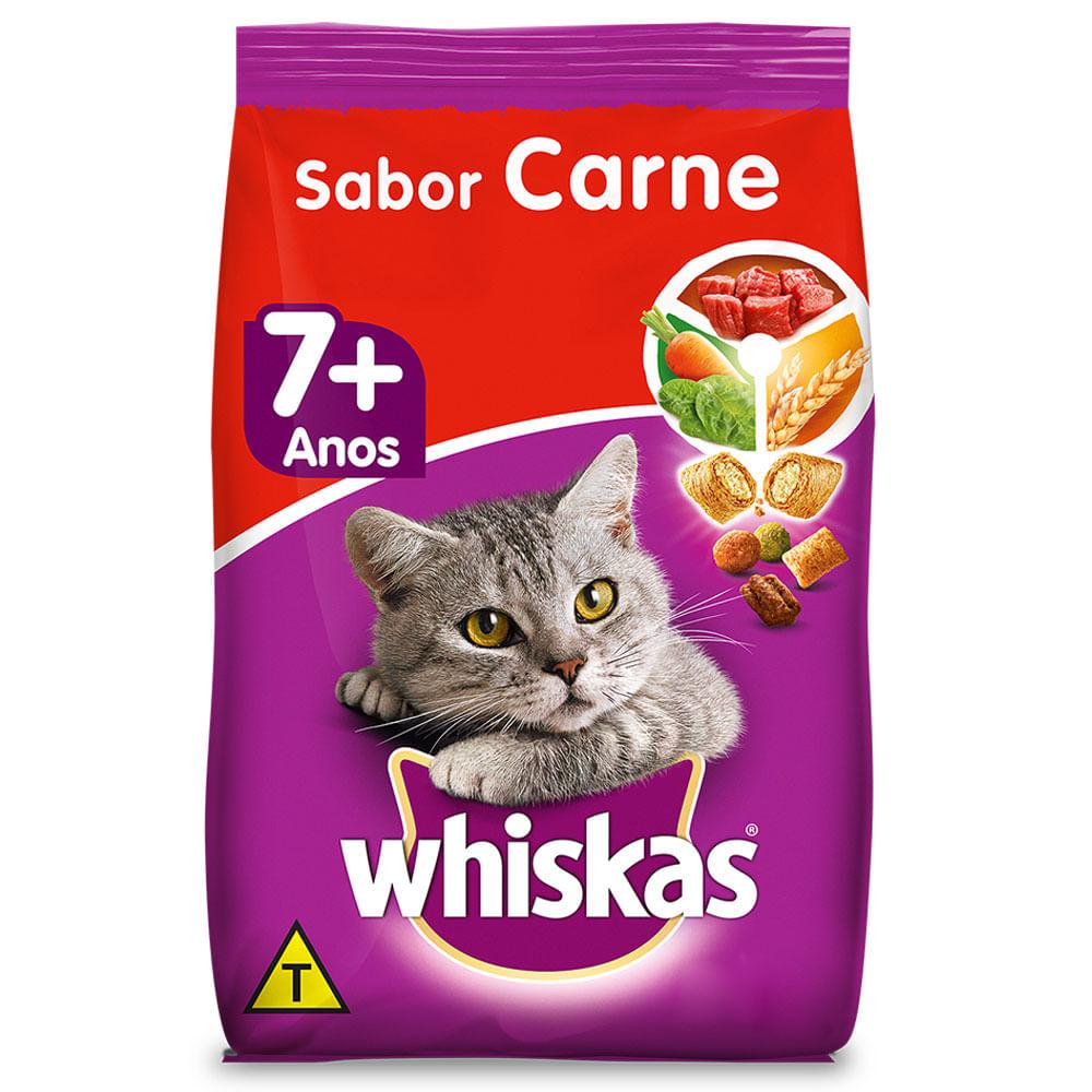 Ração Whiskas Gatos 7+ Sabor Carne
