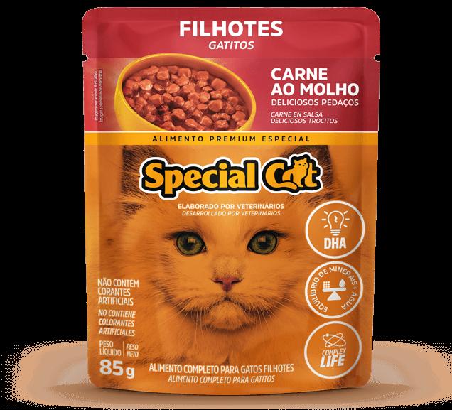 Sachê Special Cat Filhote Sabor Carne ao Molho