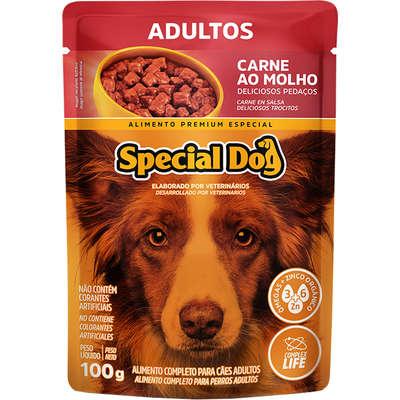 Sachê Special Dog Adulto Sabor Carne ao Molho