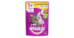 Sachê Whiskas Gatos 1 + Adulto Sabor Frango ao Molho
