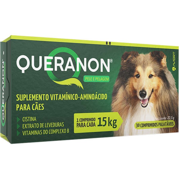 Suplemento Vitamínico-Aminoácido Queranon para Cães de 15 Kg
