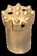 """Bits rosqueado regular plano rosca T45 diâmetro 3"""" ( 76 mm )  botões balísticos"""