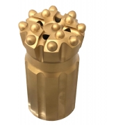 """Bits rosqueado Retrac côncavo rosca T45 diâmetro 3"""" ( 76 mm )  botões balísticos"""