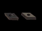 Pastilha intercambiável para torneamento DCMT150404LF KC5010 Kennametal