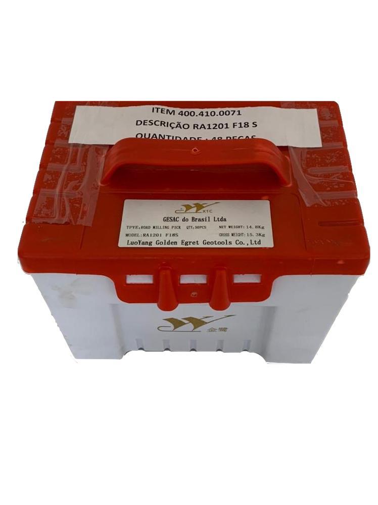 Bits para fresamento de asfalto, valetadeiras e recicladoras  com haste de 20 mm referência Gesac RA1201 F18S