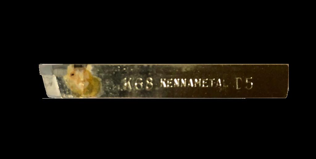 Bits quadrado de 8,0 mm de aço com metal duro soldado para torneamento referência Kennametal KG688671- D5-K68