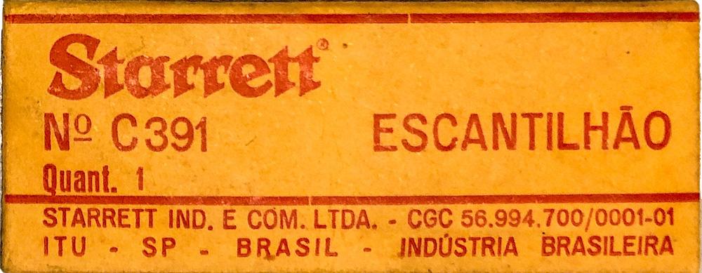 Escantilhão Starrett N° C391 padrão rosca Americana 60 graus
