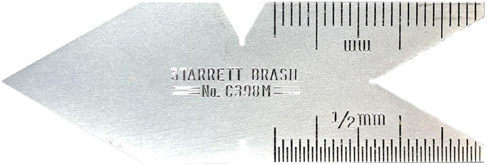 Escantilhão Starrett N° C398M padrão rosca Métrica 60 graus