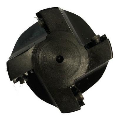 Fresa de topo a 75 graus para reaproveitamento de arestas da pastilha APKT1003 com diâmetro de 40 mm e haste de 25 mm referência Iscar E75AD40CS25