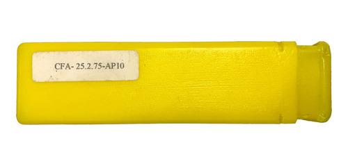 Fresa de topo a 75 graus para reaproveitamento de pastilhas APKT1003 diâmetro de 25 mm e haste de 20 mm