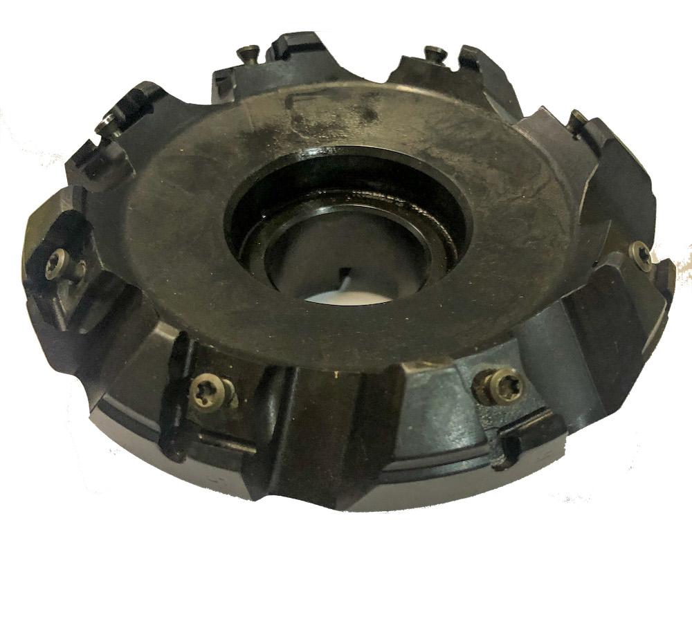 Fresa intercambiável a 45º para faceamento diâmetro de 100 mm H32 Z=8 referência Iscar F45LN D100-08-32-R-N15