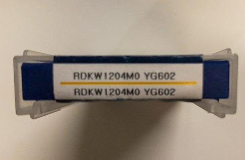 Pastilha intercambiável em metal duro , redonda, para fresamento referência YG1 RDKW1204M0 YG602