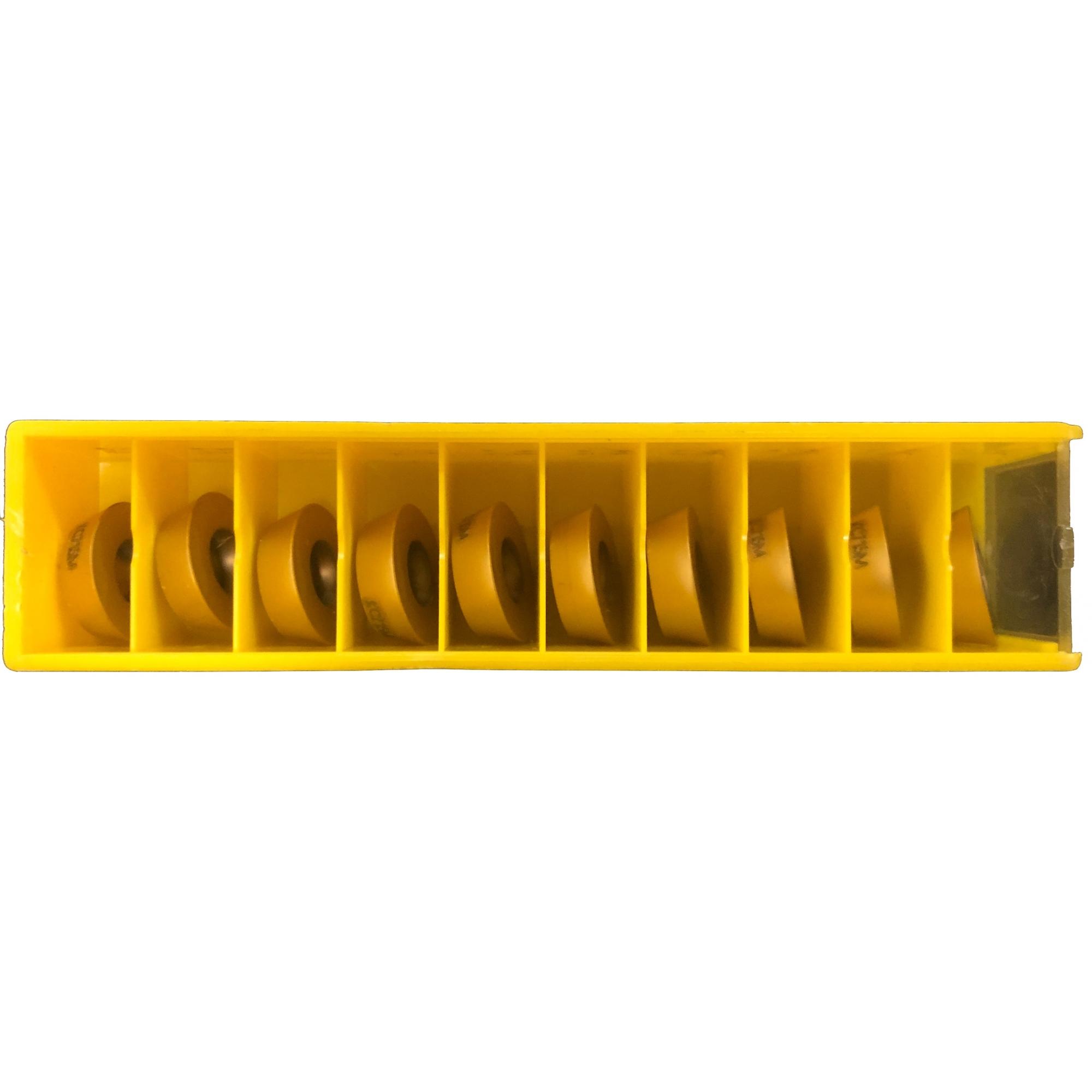 Pastilha redonda intercambiável para fresamento RDPX1604MOSHN KC715M com cobertura