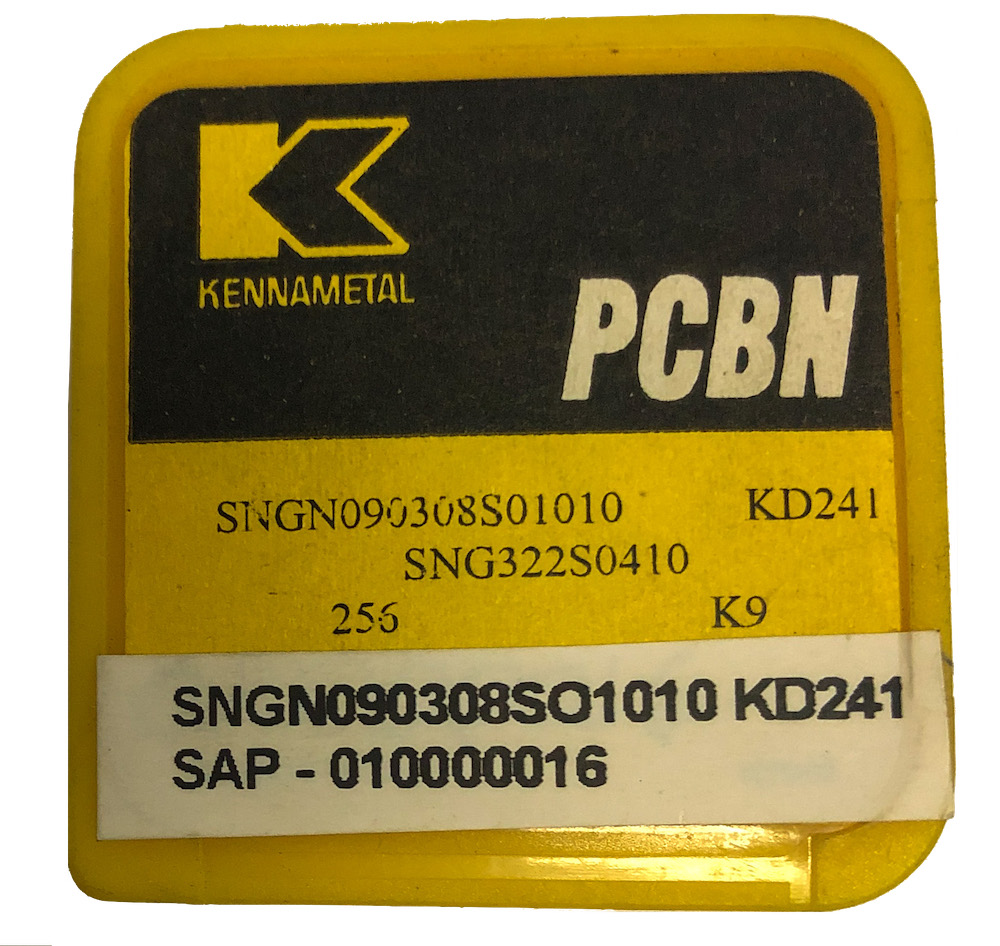 Pastilha quadrada intercambiável SNGN090308SO1010 KD241 de CBN para torneamento ferro fundido